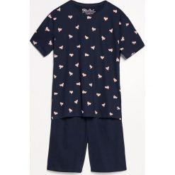 Piżama z szortami - Granatowy. Niebieskie piżamy męskie marki Reserved, l. Za 79,99 zł.