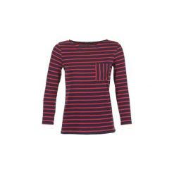 T-shirty z długim rękawem Petit Bateau  BASIQUE. Niebieskie t-shirty damskie Petit Bateau, s. Za 135,20 zł.