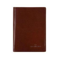 Portfele męskie: Skórzany portfel w kolorze brązowym – (D)13 x (S)9 cm