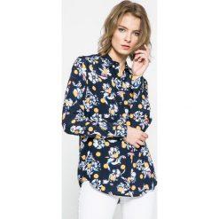Tommy Hilfiger - Koszula. Szare koszule damskie marki TOMMY HILFIGER, z tkaniny, casualowe, z długim rękawem. W wyprzedaży za 269,90 zł.
