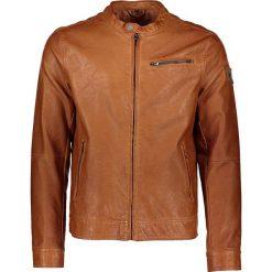 """Kurtki męskie bomber: Skórzana kurtka """"Shortjacket"""" w kolorze jasnobrązowym"""