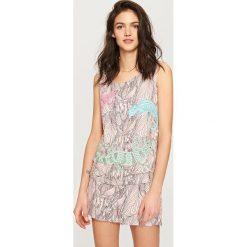 Piżamy damskie: Dwuczęściowa piżama – Beżowy