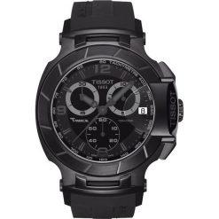 RABAT ZEGAREK TISSOT T-SPORT T048.417.37.057.00. Czarne zegarki męskie TISSOT, ze stali. W wyprzedaży za 2107,60 zł.