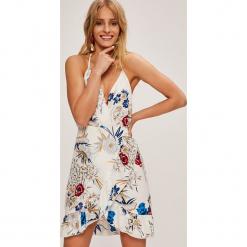 Answear - Sukienka Stripes Vibes. Szare sukienki mini ANSWEAR, na co dzień, l, z materiału, casualowe, na ramiączkach, rozkloszowane. W wyprzedaży za 89,90 zł.