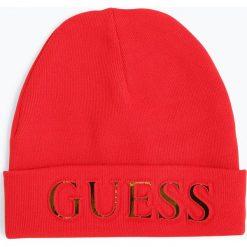 Guess Jeans - Czapka damska, czerwony. Niebieskie czapki damskie marki Guess Jeans, z obniżonym stanem. Za 199,95 zł.