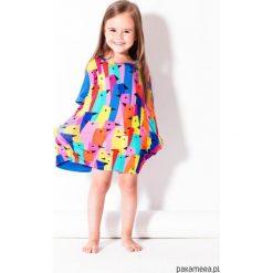 Tunika multikolor. Szare sukienki dziewczęce z falbanami Pakamera, w kolorowe wzory. Za 139,00 zł.