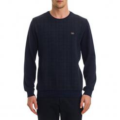 Sweter w kolorze ciemnoniebieskim. Niebieskie swetry klasyczne męskie GALVANNI, l, z okrągłym kołnierzem. W wyprzedaży za 139,95 zł.