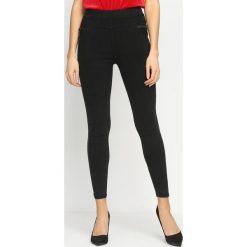 Spodnie damskie: Czarne Legginsy Rampant