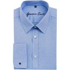 Koszula SIMONE1E KDNS000090. Niebieskie koszule męskie na spinki Giacomo Conti, m, z bawełny, z klasycznym kołnierzykiem. Za 229,00 zł.