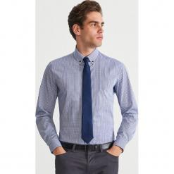 Bawełniana koszula w kratę - Niebieski. Niebieskie koszule męskie Reserved, m, z bawełny. Za 119,99 zł.