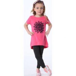 Legginsy dziewczęce: Legginsy dziewczęce ze splotem na nogawkach ciemnoszare NDZ8699