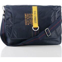 Torba na ramię Bag Street messenger office. Niebieskie torby na ramię męskie marki Bag Street, w paski, na ramię. Za 49,90 zł.