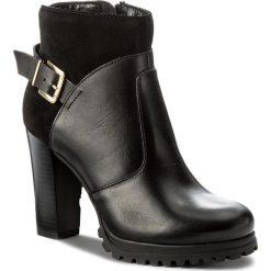 Botki KAZAR - Annika 30449-05-00 Czarny. Białe buty zimowe damskie marki Kazar, ze skóry, na wysokim obcasie, na szpilce. W wyprzedaży za 359,00 zł.