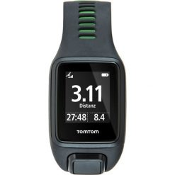 TomTom RUNNER 3 CARDIO + MUSIC Zegarek cyfrowy black/green. Czarne, cyfrowe zegarki męskie TomTom. Za 1049,00 zł.