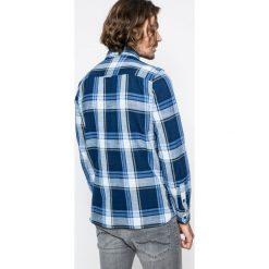 Mustang - Koszula. Szare koszule męskie na spinki marki S.Oliver, l, z bawełny, z włoskim kołnierzykiem, z długim rękawem. W wyprzedaży za 119,90 zł.
