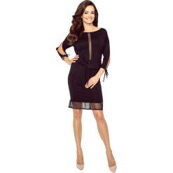 Delmar uniwersalna i wygodna sukienka czarny. Czarne sukienki Bergamo, uniwersalny, z dekoltem w łódkę. Za 119,99 zł.