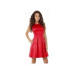 Sukienka kontrafałda czerwony ED02-7. Zielone sukienki balowe marki Soleil, na co dzień, xs, z dekoltem w łódkę, dopasowane. Za 279,00 zł.