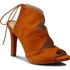 Rzymianki damskie: Sandały OLEKSY – 2151/B84/000/000/000 Zamsz Arancio
