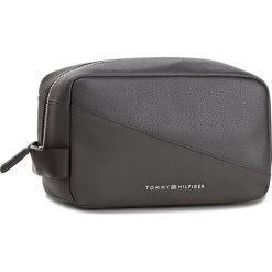 Kosmetyczka TOMMY HILFIGER - Th Diagonal Washbag AM0AM03020 002. Czarne kosmetyczki męskie marki Reserved. Za 279,00 zł.
