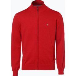 Swetry rozpinane męskie: Fynch Hatton – Kardigan męski, czerwony