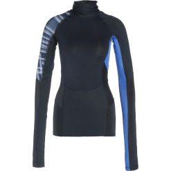 Nike Performance MOCK ENERGY PIECED Koszulka sportowa dark obsidian/game royal/mineral yellow. Czarne topy sportowe damskie marki Nike Performance, l, z materiału, outdoorowe. W wyprzedaży za 194,25 zł.