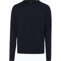Jack & Jones - Sweter męski – Eunion, niebieski. Czarne swetry klasyczne męskie marki Jack & Jones, l, z bawełny, z klasycznym kołnierzykiem, z długim rękawem. Za 99,95 zł.