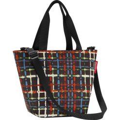 Shopper bag damskie: Torba z kolorowym wzorem na zakupy – 31 x 21 x 16 cm