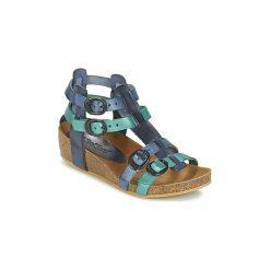 Sandały Dziecko  Kickers  BOMDIA. Niebieskie sandały dziewczęce marki Kickers, z kauczuku, na sznurówki. Za 209,30 zł.