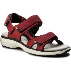 Rzymianki damskie: Sandały CLARKS – Un Roam Step 261339344 Red Nubuck