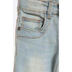 Blue Seven - Jeansy dziecięce 92-128 cm. Niebieskie spodnie chłopięce Blue Seven, z aplikacjami, z bawełny. W wyprzedaży za 49,90 zł.