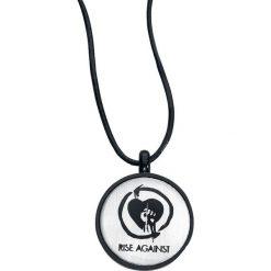 Rise Against Logo Naszyjnik czarny/odcienie srebrnego. Czarne naszyjniki damskie Rise Against, metalowe. Za 42,90 zł.