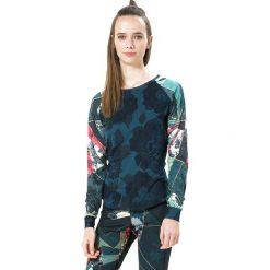 Koszulka w kolorze niebieskim ze wzorem. Niebieskie bluzki sportowe damskie Desigual Sport, s, z długim rękawem. W wyprzedaży za 130,95 zł.