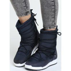 Granatowe Śniegowce Parsley. Czarne buty zimowe damskie marki Cropp. Za 99,99 zł.