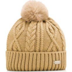 Czapka damska 85-HF-014-5. Brązowe czapki zimowe damskie Wittchen, na zimę, z dzianiny. Za 125,00 zł.