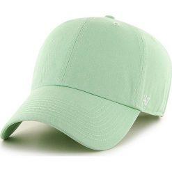 47brand - Czapka Clean Up Curved. Szare czapki z daszkiem damskie 47brand, z bawełny. W wyprzedaży za 79,90 zł.