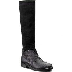Kozaki CARINII - B3624 H76-E17-000-B42. Czarne buty zimowe damskie Carinii, z materiału. W wyprzedaży za 249,00 zł.