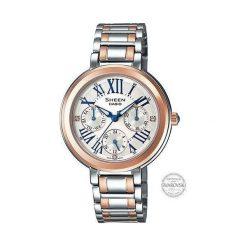 Zegarki damskie: Zegarek Sheen Damski SHE-3034SG-7AUER Swarovski MultiData srebrny