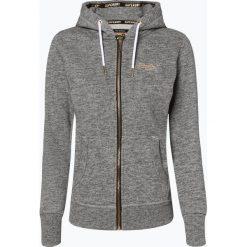 Superdry - Damska bluza rozpinana, szary. Szare bluzy rozpinane damskie marki Superdry, l, z nadrukiem, z bawełny, z okrągłym kołnierzem. Za 349,95 zł.
