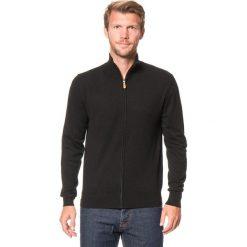 Swetry rozpinane męskie: Kardigan w kolorze czarnym
