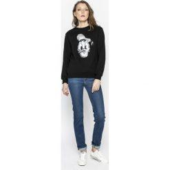 Tally Weijl - Bluza. Czarne bluzy z nadrukiem damskie marki TALLY WEIJL, l, z bawełny, bez kaptura. W wyprzedaży za 79,90 zł.