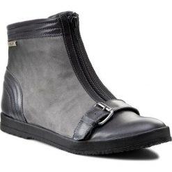 Botki A.J.F. - 00918  Szary. Szare buty zimowe damskie A.J.F., z nubiku. W wyprzedaży za 199,00 zł.