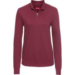Bluzy damskie: Bluza z zamkiem, długi rękaw bonprix purpurowy