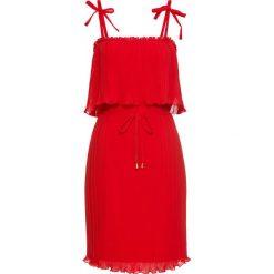 Sukienki: Sukienka plisowana na ramiączkach bonprix truskawkowy