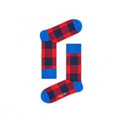 Skarpetki Happy Socks - Lumber Jack (GIH01-4000). Szare skarpetki męskie Happy Socks, w kolorowe wzory, z bawełny. Za 34,90 zł.