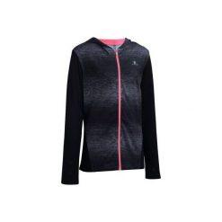 Bluza na zamek Gym Energy. Szare bluzy dziewczęce rozpinane marki DOMYOS, z elastanu, z kapturem. Za 59,99 zł.