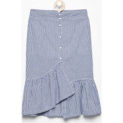 Spódnica z falbaną - Niebieski. Niebieskie spódniczki dziewczęce Reserved. W wyprzedaży za 29,99 zł.