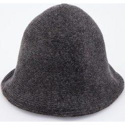 Wełniany kapelusz - Szary. Czarne kapelusze damskie marki Reserved. Za 69,99 zł.