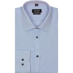 Koszule męskie jeansowe: koszula bexley 2002 długi rękaw slim fit niebieski