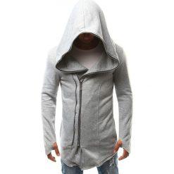 Bluzy męskie: Bluza męska z kapturem rozpinana szara (bx2336)