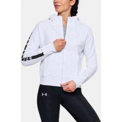 Bluzy sportowe damskie: Under Armour Bluza damska BETTER EUROPE FLEECE FZ biała r. S (1320606-100)